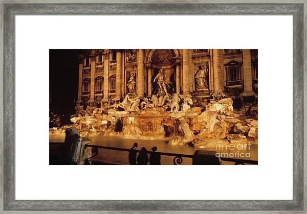 Trevi At Night Framed Print