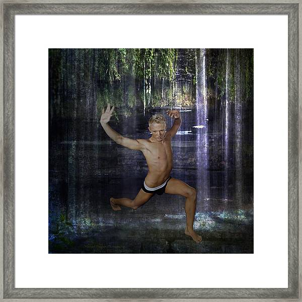 Framed Print featuring the photograph Trevor - Jungle Warrior by Michael Taggart