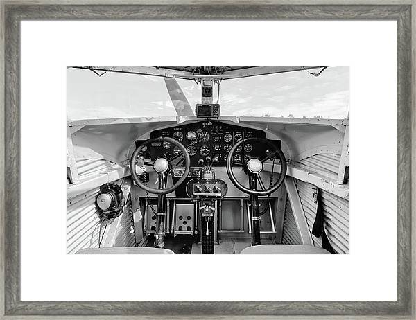 Tri-motor Cockpit - 2017 Christopher Buff, Www.aviationbuff.com Framed Print