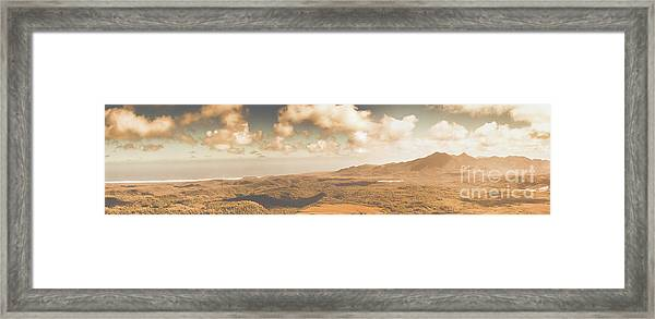 Trial Harbour Landscape Panorama Framed Print