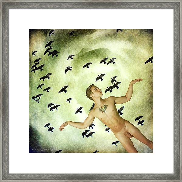 Framed Print featuring the photograph Trials Of Eros II - The Escape by Michael Taggart