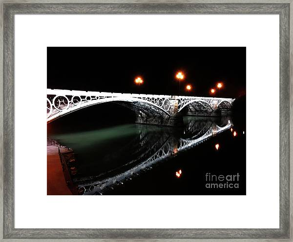 Triana Bridge Framed Print