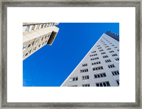 Triangle Modern Building Framed Print