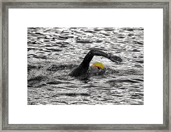 Triathlon Swimmer Framed Print
