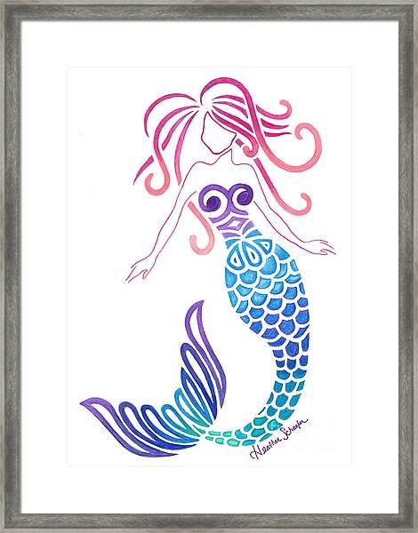 Tribal Mermaid Framed Print
