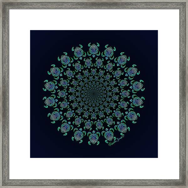 Tribal Turtle Tunnel Framed Print