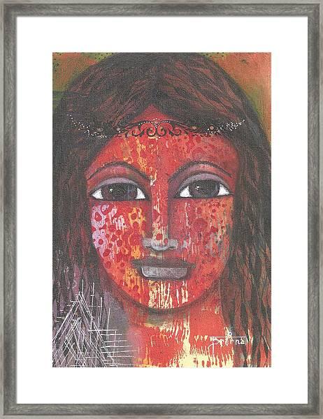 Tribal Woman Framed Print
