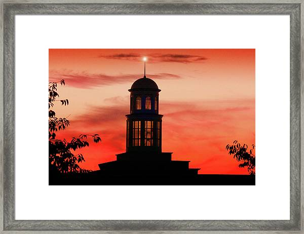 Trible Library Dome At Christopher Newport University Framed Print