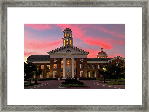 Trible Library Pastel Sunset Framed Print