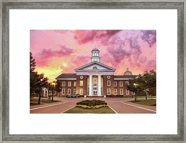 Trible Library Under A Crayola Sky Christopher Newport University  Framed Print