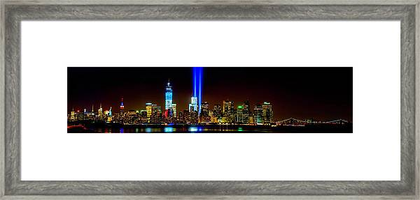Tribute In Light From Bayonne Framed Print