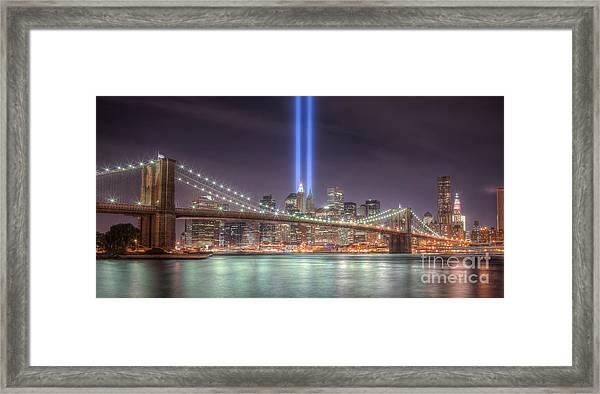 Tribute In Light IIi Framed Print
