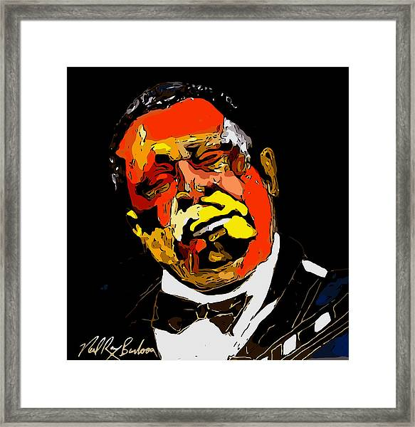 tribute to BB King reworked Framed Print