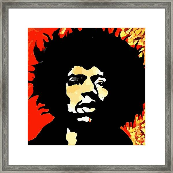 Tribute To Hendrix Framed Print