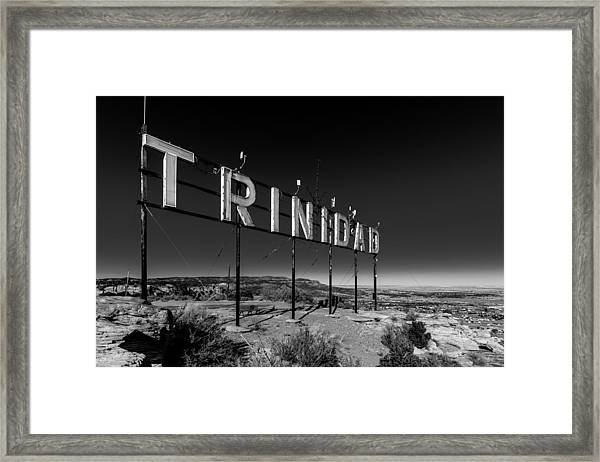 Trinidad Colorado Sign Simpsons Rest Framed Print