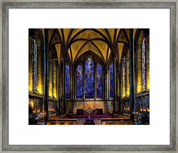 Trinity Chapel Salisbury Cathedral Framed Print