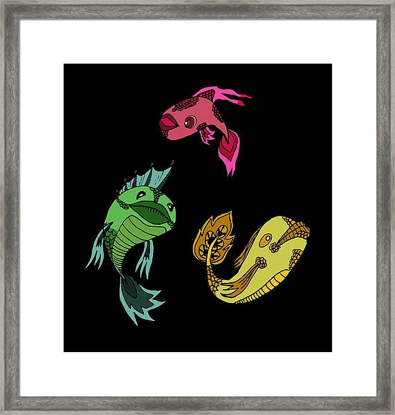 Trio Fish Framed Print