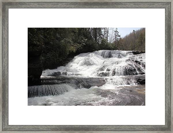 Triple Falls Framed Print