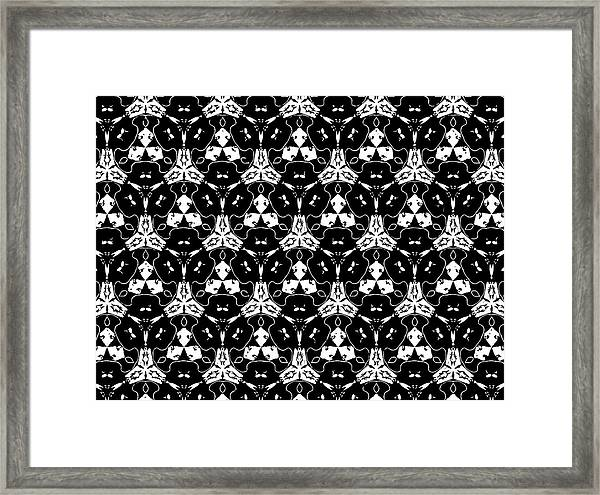 Triple Lace Framed Print