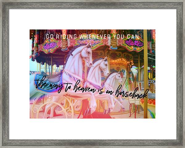Triple Threat Quote Framed Print