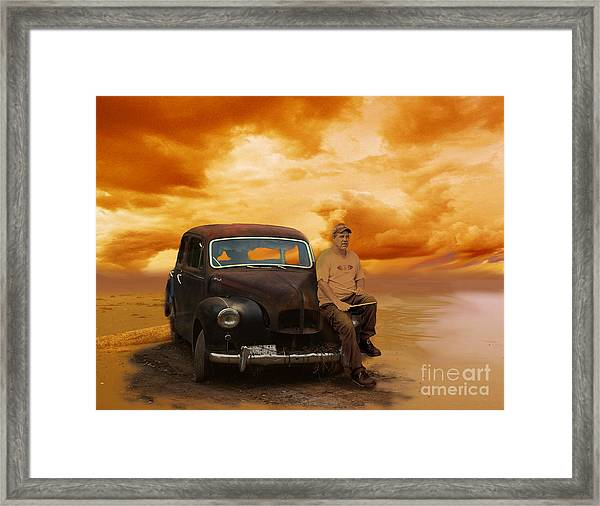 Trippin' With My '48 Austin A40 Framed Print