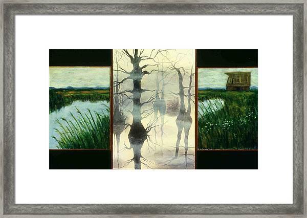 Triptych Framed Print by Helen O Hara