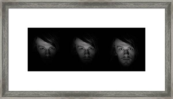 Triptych Framed Print