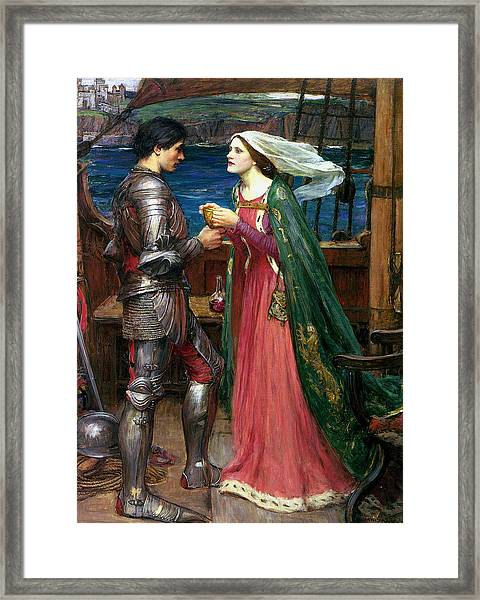 Tristan And Isolde With The Potion Framed Print