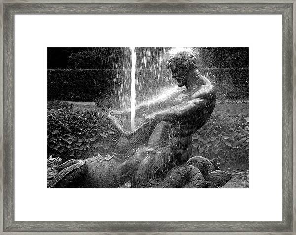 Triton Fountain Framed Print
