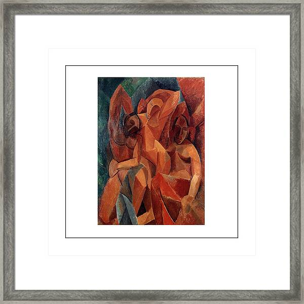 Trois Femmes Three Women  Framed Print