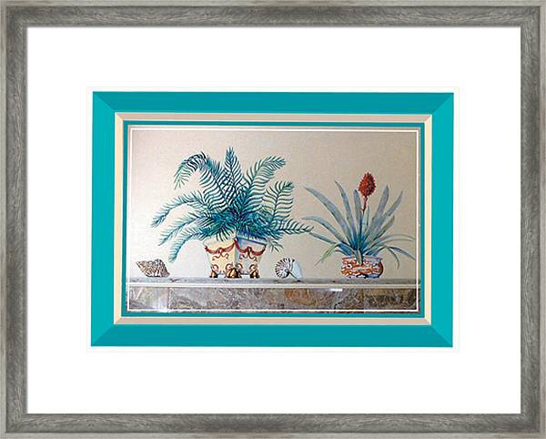 Trompe L'oeil Plants Framed Print
