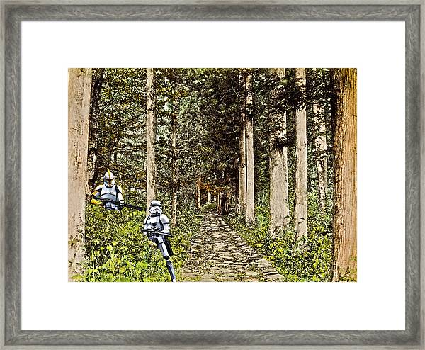 Troopers On The Planet Framed Print