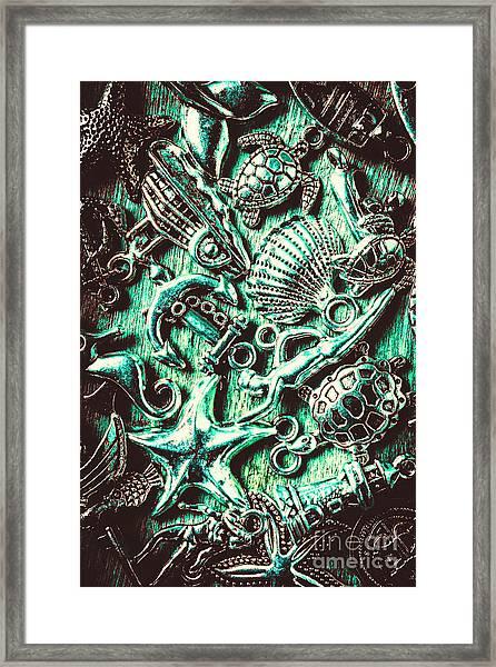Tropical Bay Elements Framed Print