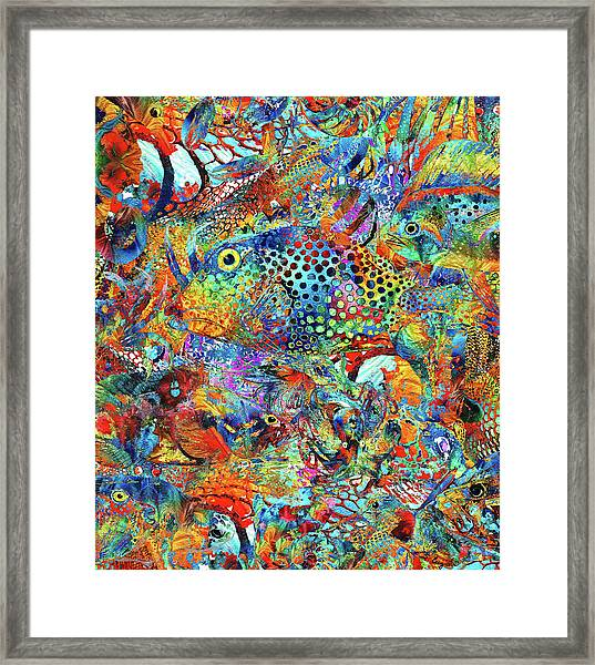 Tropical Beach Art - Under The Sea - Sharon Cummings Framed Print