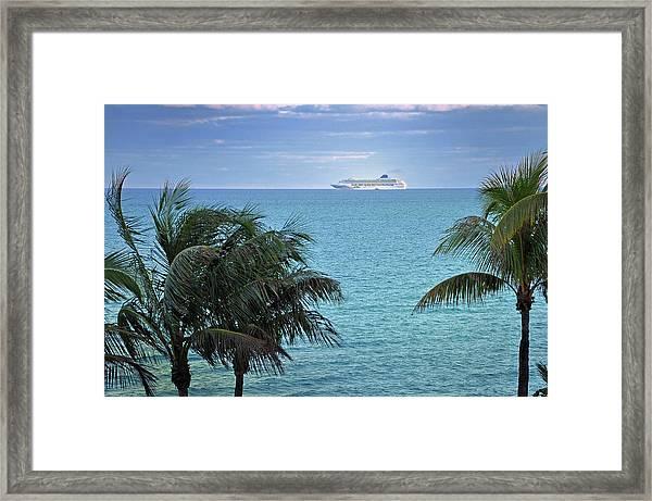 Tropical Cruise Framed Print