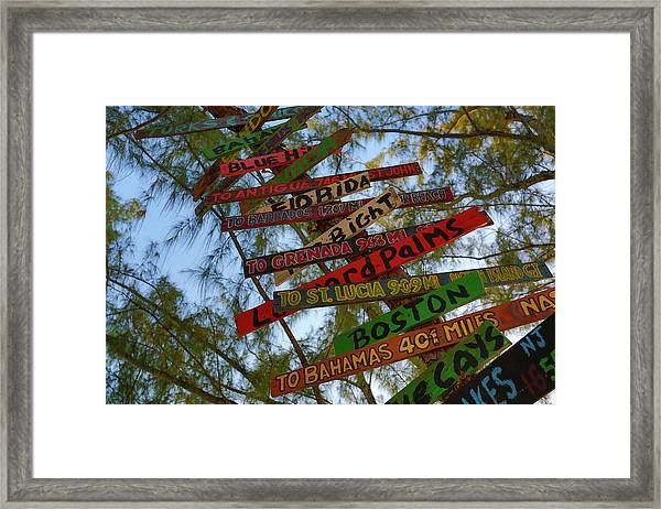 Tropical Directions Framed Print