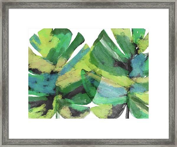 Tropical Dreams 1- Art By Linda Woods Framed Print