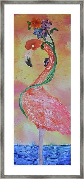 Tropical Flamingo Framed Print