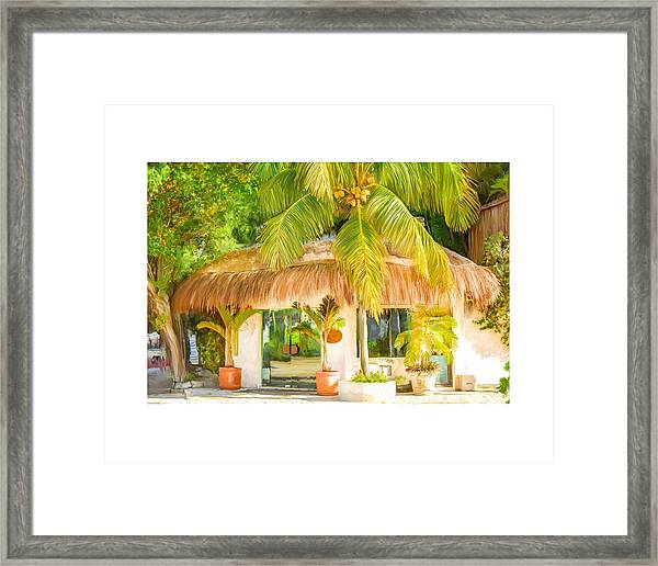 Tropical Hut Framed Print