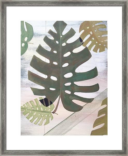 Tropical Leaf Framed Print