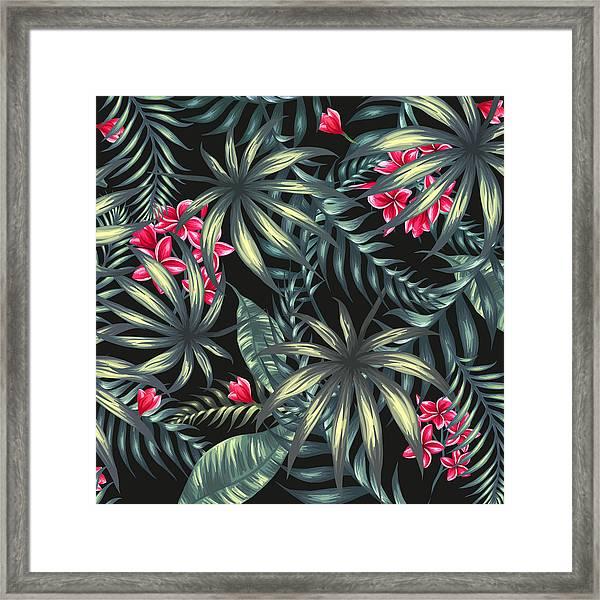 Tropical Leaf Pattern  Framed Print