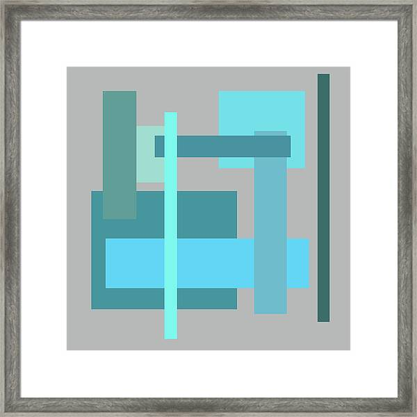 Tropical Oceans Square Abstract Framed Print