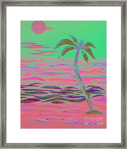 Hot Pink Coconut Palm Framed Print
