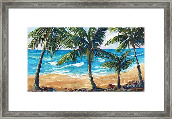 Tropical Palms I Framed Print