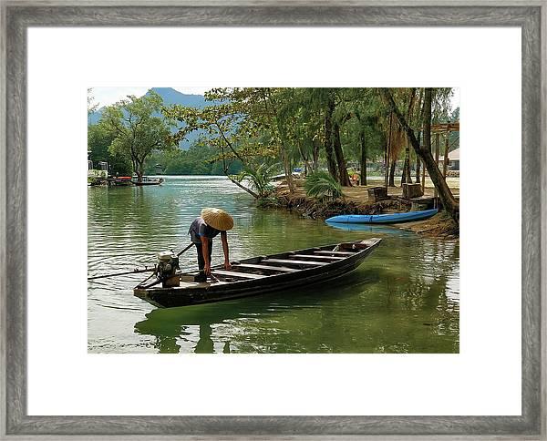 Tropical River  Framed Print