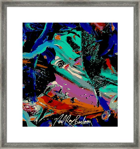 Tropical Space Chase Framed Print