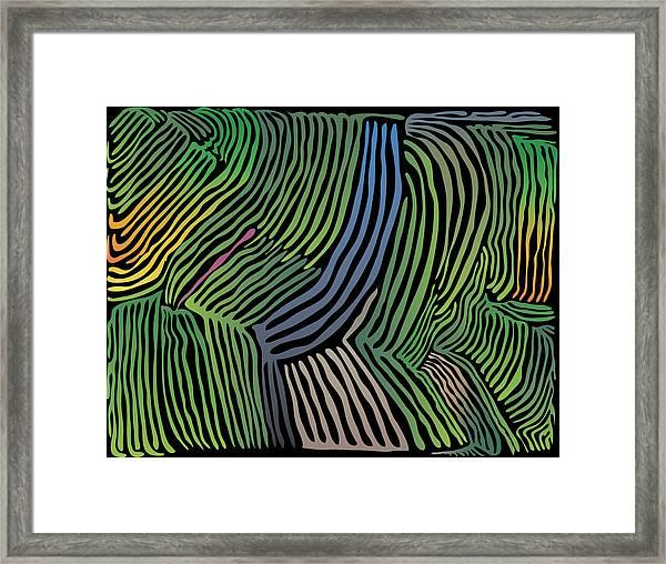 Tropical Striations Framed Print