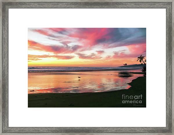 Tropical Sunset Island Bliss Seascape C8 Framed Print