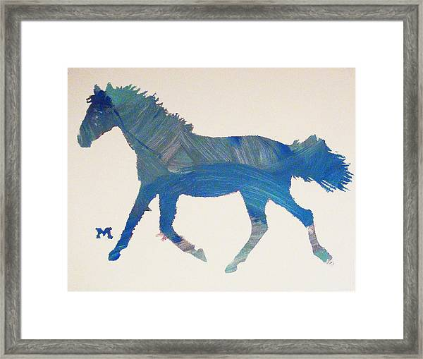 Framed Print featuring the painting Trotter by Candace Shrope
