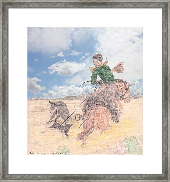 Trouble In Bunches Classic Framed Print